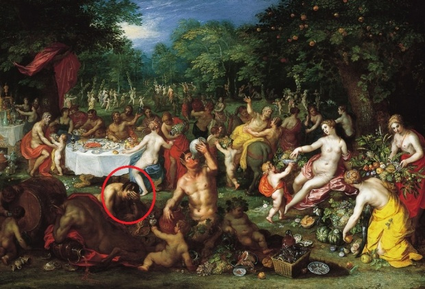 Circled: me in the middle of my vacation, regretting everything